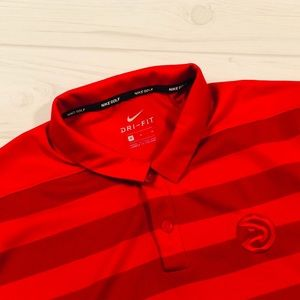 Nike Golf Dri Fit Atlanta Hawks Polo Medium EUC!!